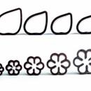 Gardenia. 9 Stampi Petali e Boccioli. Decora