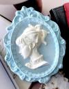 Grande Cornice con Donna 15 x 12 cm. Barocco Vintage. Stampo in silicone