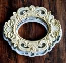 Grande Cornice Stile Barocco 25 x 20 cm. Vintage. Stampo in silicone