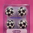 Kit di 12 Pallone da calcio in zucchero.