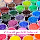 Liposolubili Perlescenti Concentrati. Coloranti in polvere. Senza Glutine.