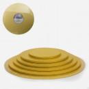 Oro. Cake Board Tondo da 25 a 50 cm. Vassoio con spessore 13 mm