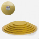 Oro. Cake Board Tondo da 25 a 50 cm. Vassoio da 13 mm