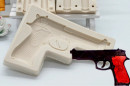 Pistola. Stampo in silicone