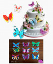 Set C. Farfalle volanti in Wafer Paper edibili. Cake Topper