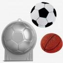Tortiera Pallone Calcio in Alluminio. Wilton.