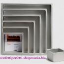 Tortiera Quadrata dritta altezza 10 cm. Alluminio anodizzato da 10 a 40 cm. Decora