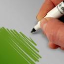 Verde. Doppia Punta. Pennarello Alimentare con 2 punte di 0,5 mm e di 2,5 mm. Rainbow Dust Food Art Pen
