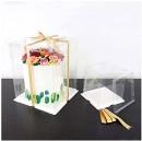 25 x 25 Altezza 33 cm. Rigida. Scatola box per dolci Trasparente Cristal. PME