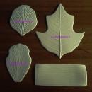 Foglie e Petali Vari Fiori. 4 Venatori in silicone