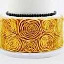6 Grandi Rose. Stampo Bordo in silicone.