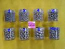Argento Perle Lucide di zucchero. Da 2 a 8 mm
