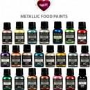 Blu Metallizzato. Rainbow Dust. Vernice Perlescente. Food Paints.25 ml.