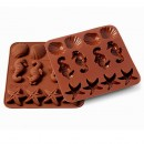 Cavalluccio Marino Conchiglie e Stella Marina con questo Stampo Mare in Silicone Silikormart Sealife.