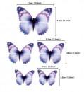 Farfalle volanti con Ali Multicolore. Sagoma Cake Topper