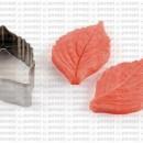 Foglia Ortensia. 2 Venatori in silicone + Cutter in metallo