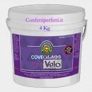 Kg 4 Bianca Cove Glass Extra Velo. Con Alta percentuale di Burro di Cacao.Per Copertura e Modellaggio.