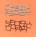 Muro di Pietra. Fustelle sottili metalliche per Scrapbooking