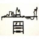 New York Città con Grattacieli e con la Statua della Libertà. Skyline. Stampo Tagliapasta Patchwork Cutter