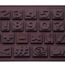 Numeri e simboli. Stampo per cioccolato