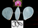 Orchidea. 3Venatori in silicone + 3 Cutter in metallo