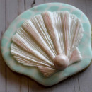 Ostrica. Stampo mare di una grande Conchiglia in silicone