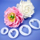 Peonia. Set di 4 Cutter in plastica. FMM.
