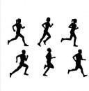 Runner Silhouette Set. Uomini e Donne che fanno Jogging. Stampo tagliapasta Patchwork Cutter