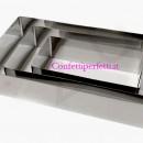 Set di 3 Cornici a forma rettangolare senza fondo in acciaio Inox.
