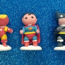 Set di 3 Super Eroi 3D in pdz. Batman Flash e Superman. Modecor