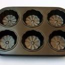 Stampo 6 Fiori in alluminio antiaderente.