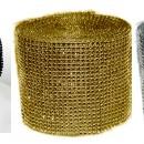 Strass Oro Argento e Nero. Giro Torta Diamantato. per Decorazioni Alto 10 cm e 24 file.