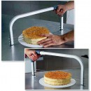 Taglia torta e fette in acciaio Professionale a  lame regolabili