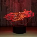 Ferrari Formula 1. Lampada 7 colori 3/D Led. Telecomando incluso.Cake Topper