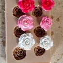 6 Rose. Venatore in silicone