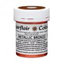 Bronzo Metallizzato. Colorante al Burro di Cacao per Cioccolato. Sugarflair