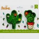 Cactus. Set di 2 tagliapasta. Decora