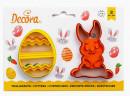 Coniglio e Uovo decorato. Pasqua. Due Tagliabiscotti Decora