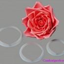 Crea Grande Rosa. 3 stampi in plastica