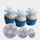Cristalli e Fiocchi di neve. 3 Stampi Tagliapasta