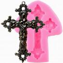 Croce Barocca decorata. Stampo in silicone