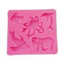 Delfino Tricheco Polipo Pesce e Foca. Stampo Mare in silicone