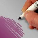 Doppia Punta. Viola. Pennarello Alimentare con 2 punte di 0,5 mm e di 2,5 mm. Rainbow Dust Food Art Pen