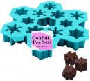 Fiocchi di neve in 12 forme. Stampo in silicone
