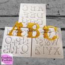 Lettere Alfabeto Barocco. Stampo in silicone