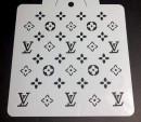 Louis Vuitton 20x20 cm. Stencil L.V.