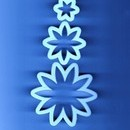 Margherita. Stampi in plastica per decorare con la pasta di zucchero