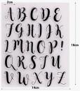 Marizta Script Regular. Lettere Maiuscole a Timbro trasferibili da dipingere