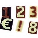 Stampo in policarbonato per numeri di Cioccolata
