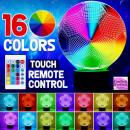 Pallone Calcio. Lampada 16 colori 3/D Led. Telecomando incluso.Cake Topper